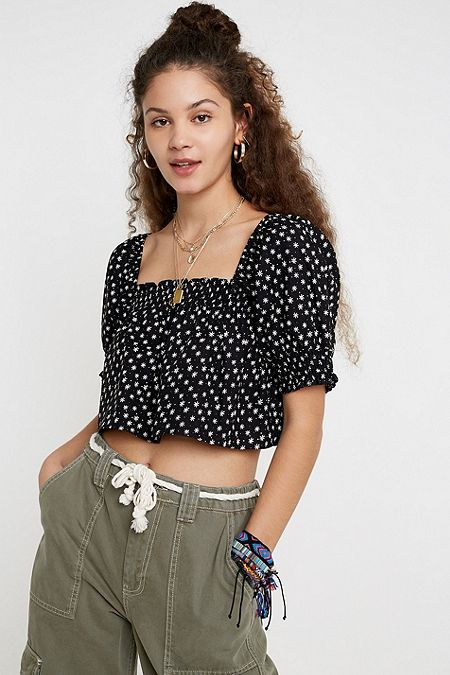 341f0bead70 Black - Women's Crop Tops | Cropped T-Shirts | Urban Outfitters UK