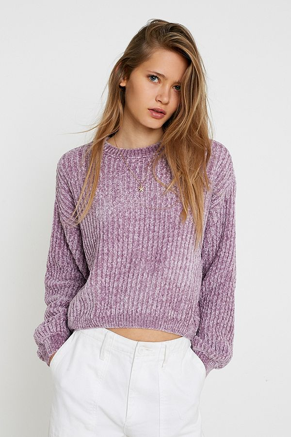 Slide View: 1: UO Plush Crew Neck Jumper