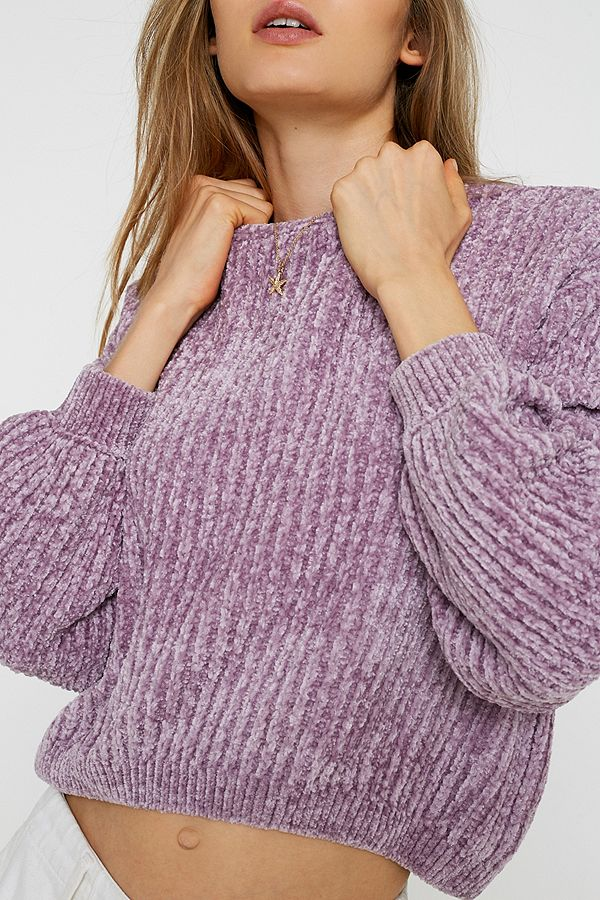 Slide View: 2: UO Plush Crew Neck Jumper