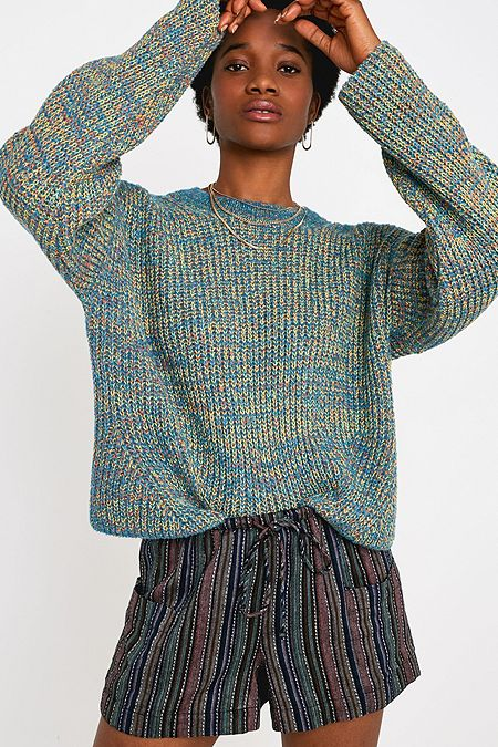 3adefd2b5 UO Boucle Twist Knit Crew Neck Jumper