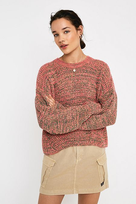7dad0e4e2751d UO Boucle Twist Knit Crew Neck Jumper