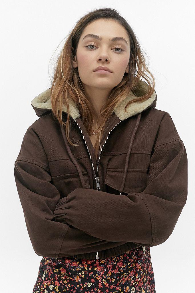 veste fille mouton courte capuche
