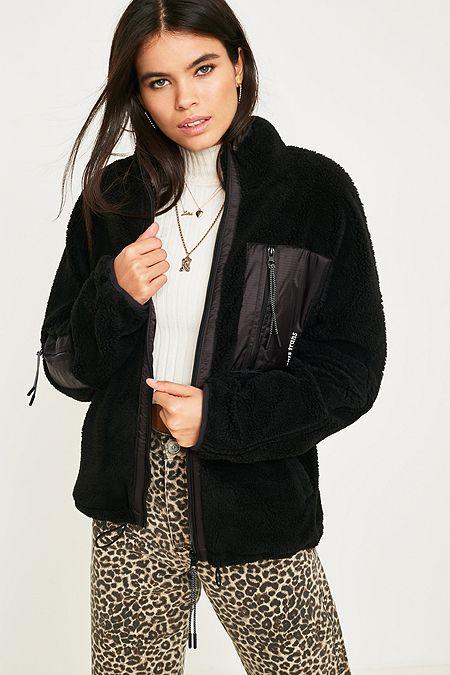4d8d6b6fdff iets frans... Black Fleece Zip-Through Jacket