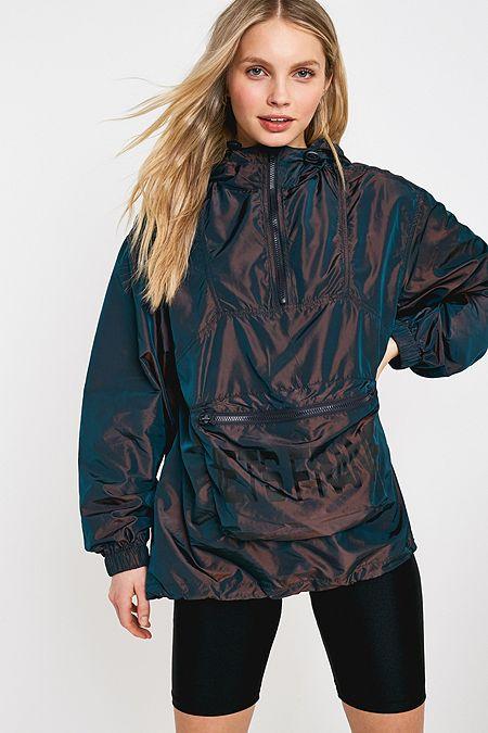 6b257f42a9d iets frans... Iridescent Pac-a-mac Popover Jacket