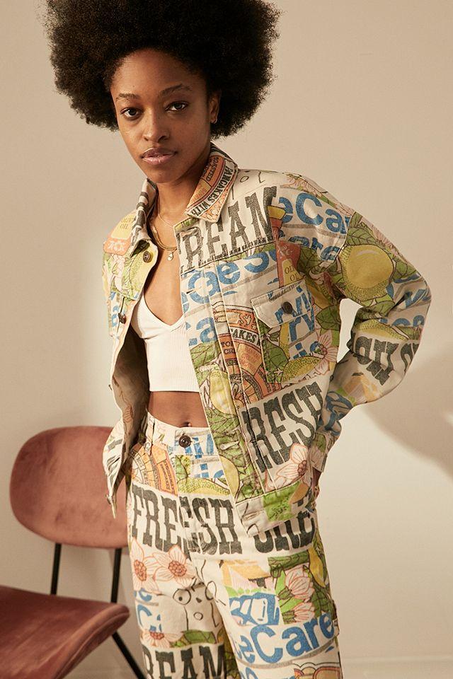 BDG Retro Print Western Denim Jacket Urban Outfitters