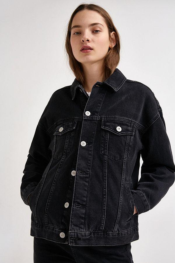 58fcc0142c9d BDG Boyfriend Black Denim Jacket | Urban Outfitters UK