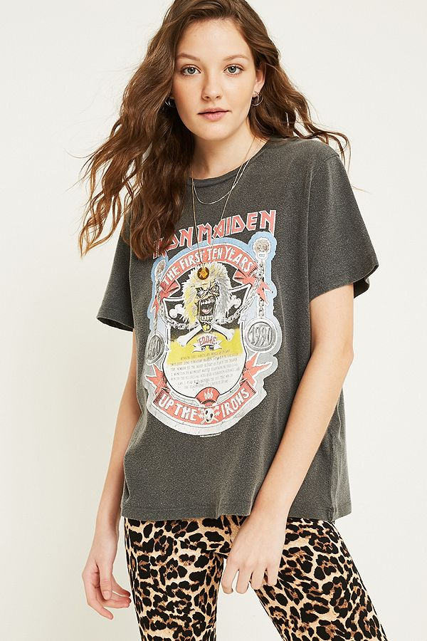 505d15ce UO Iron Maiden T-Shirt | Urban Outfitters UK