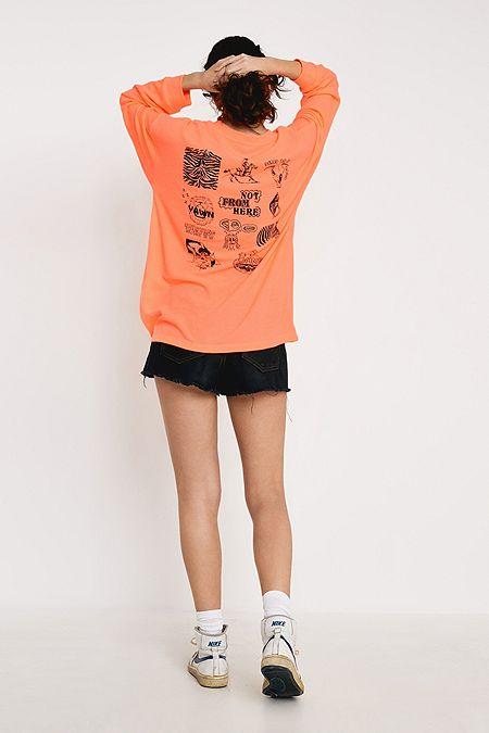 UO Neon Waffle Knit Long-Sleeve Skate T-Shirt ac2c0cda2