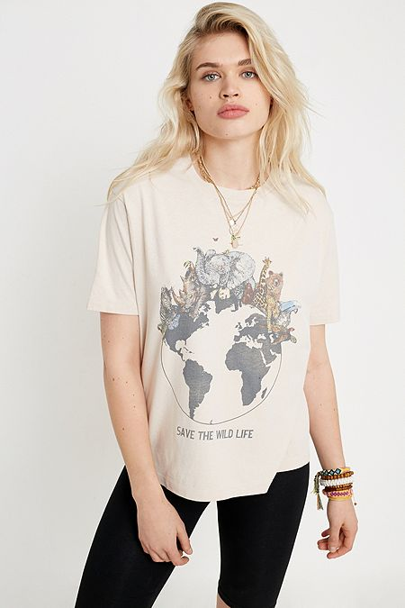 df68a05a58def Women's Printed T-Shirts | Graphic Tees | Urban Outfitters UK