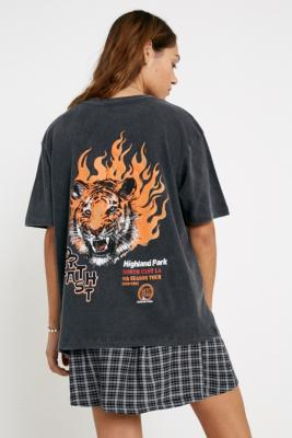 Uo Tiger Flame T Shirt by Urban Outfitters
