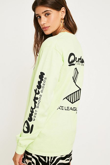 835218d9d2de8 BDG Pippa Khaki Crop Top. 45.00 €. Khaki. Online Only. Quantum Fluorescent  Yellow Long-Sleeve T-Shirt