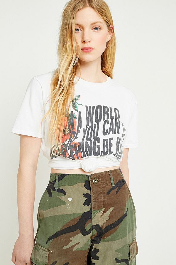 f4b7cbc74 UO Be Kind Floral T-Shirt | Urban Outfitters UK