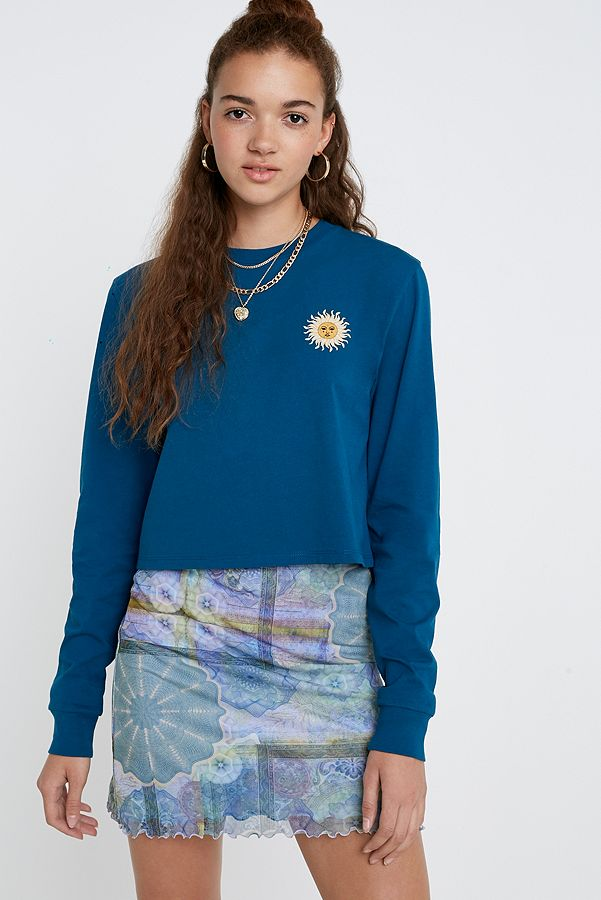 8c7ede61 UO Soleil Long-Sleeve Crop Skate T-Shirt | Urban Outfitters UK