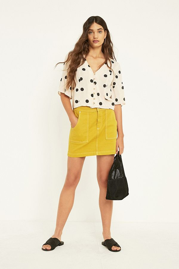 d5b98ac05 BDG Yellow Carpenter Skirt | Urban Outfitters UK