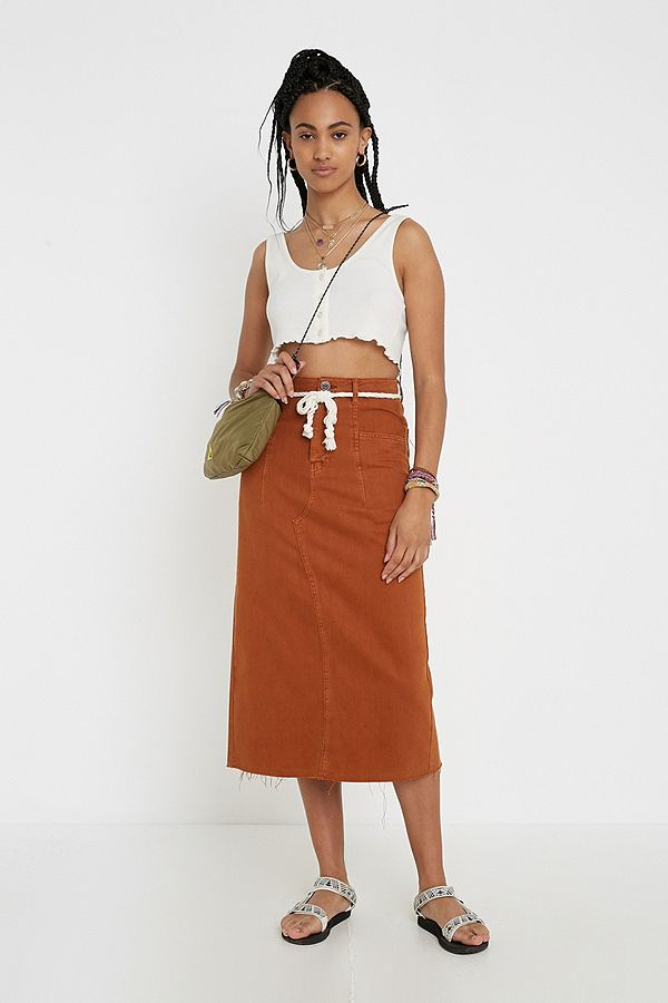 428eec19beef23 BDG Denim Midi Skirt | Urban Outfitters UK