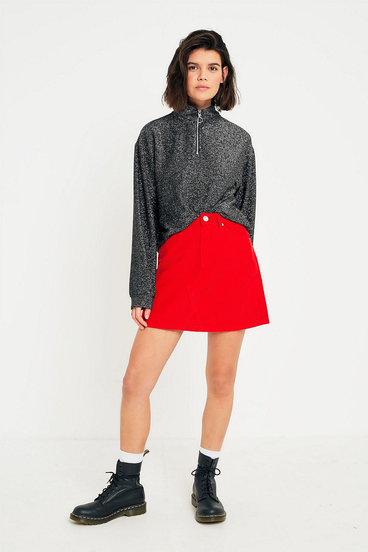 af04110af Red Corduroy Mini Skirt – DACC
