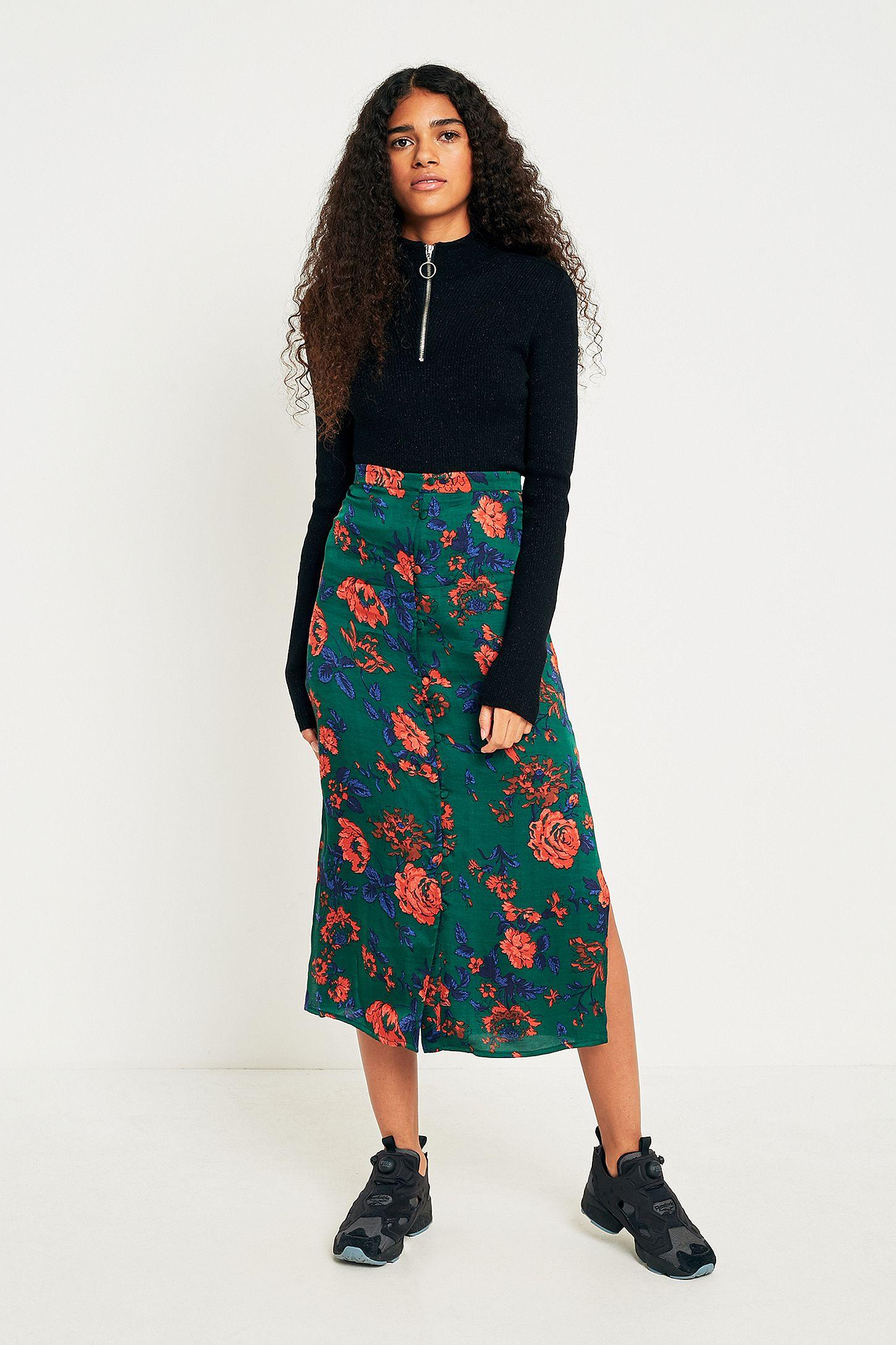 62e42c2995 Green Floral Midi Skirt | Huston Fislar Photography