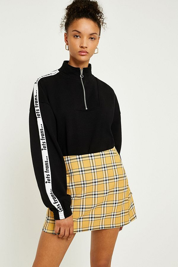 060a373dc UO Mustard Yellow Checked Pelmet Skirt | Urban Outfitters UK