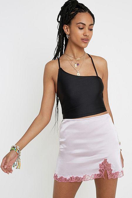 76c3521ec87 UO Lace Insert Mini Skirt