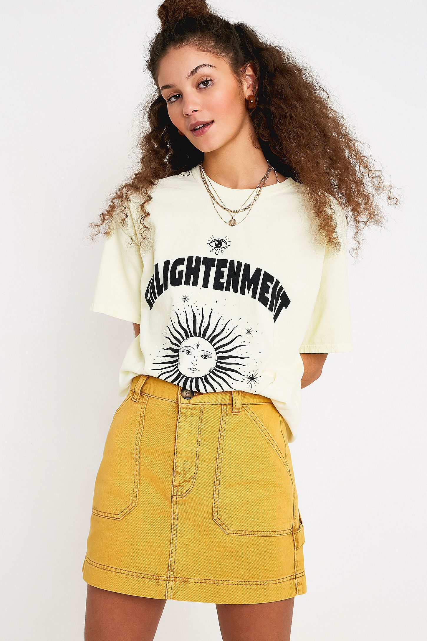 549c06d99 BDG Sun Yellow Carpenter Mini Skirt | Urban Outfitters UK