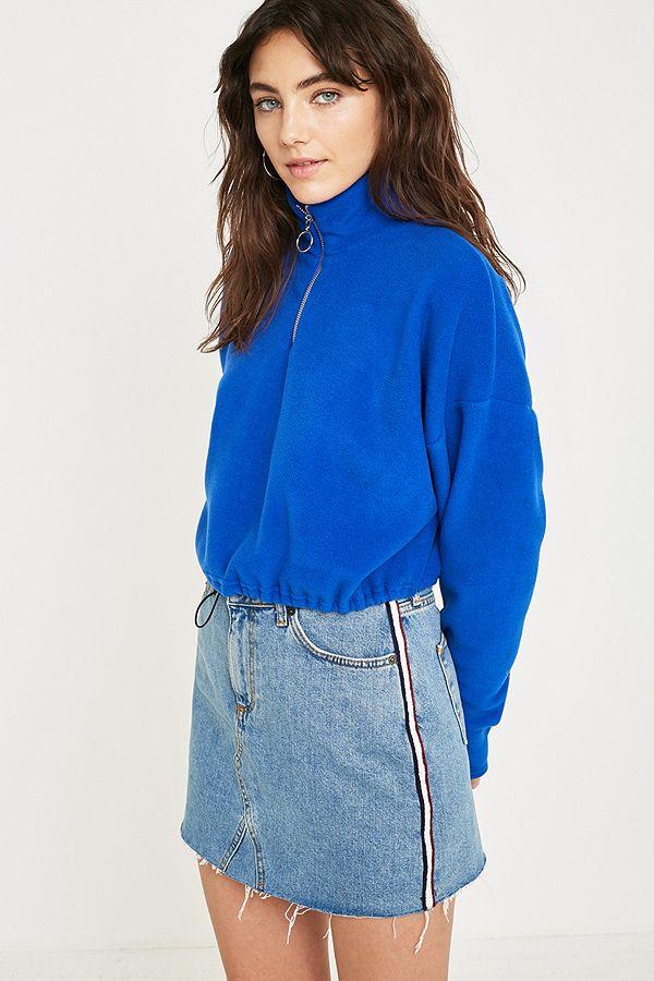 3e7cf3a34 BDG Side Stripe Notched Denim Mini Skirt | Urban Outfitters UK