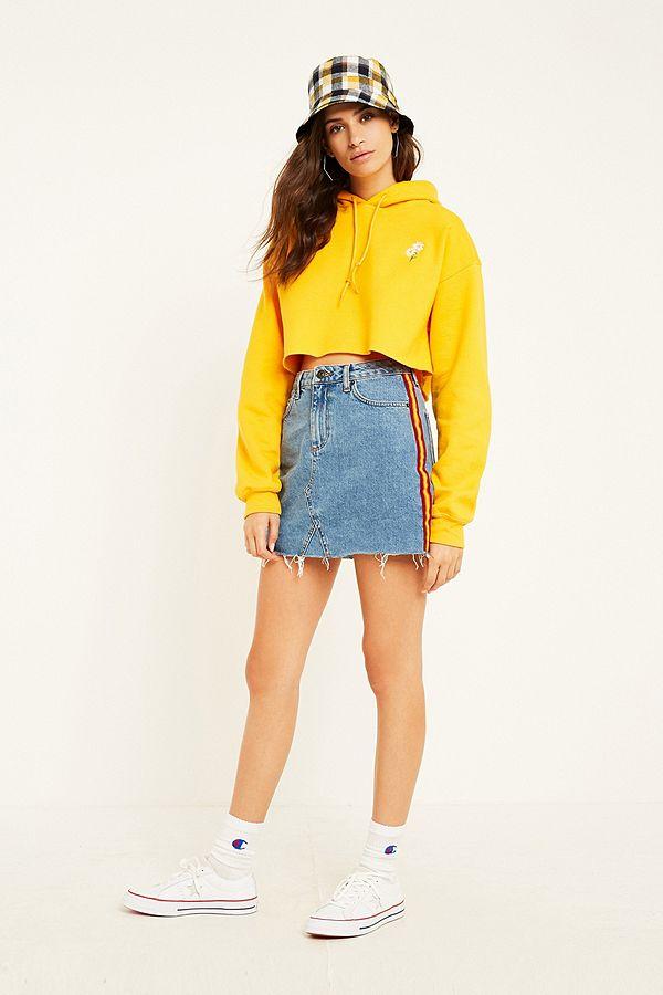 74637ad569 BDG Blue Vintage Side Stripe Denim Skirt | Urban Outfitters UK