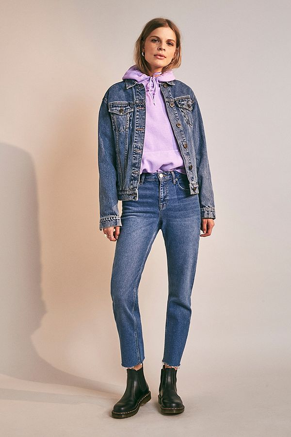 dcea22e9fa BDG Axyl Mid Vintage Blue Slim Straight Jeans | Urban Outfitters UK