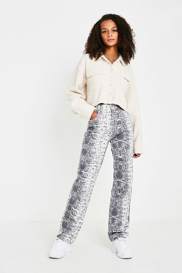 good out x new lifestyle new lower prices BDG Column High-Waisted Straight-Leg Snake Print Jeans