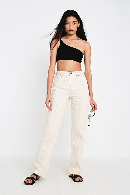 e030c1a29d4 BDG Ecru Panelled Column Jeans
