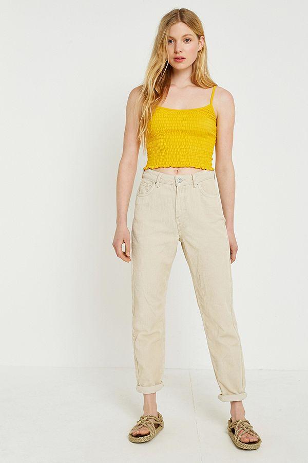 3e198869c9 BDG Mom Ecru Corduroy Trousers | Urban Outfitters UK