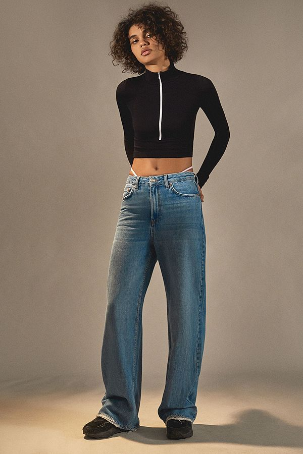 3a41fa96af BDG Mid Wash Puddle Jeans | Urban Outfitters UK