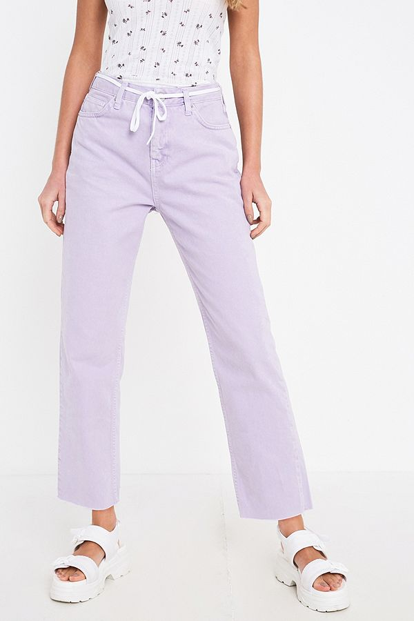 Slide View: 3: BDG Pax Lilac Straight Leg Jeans