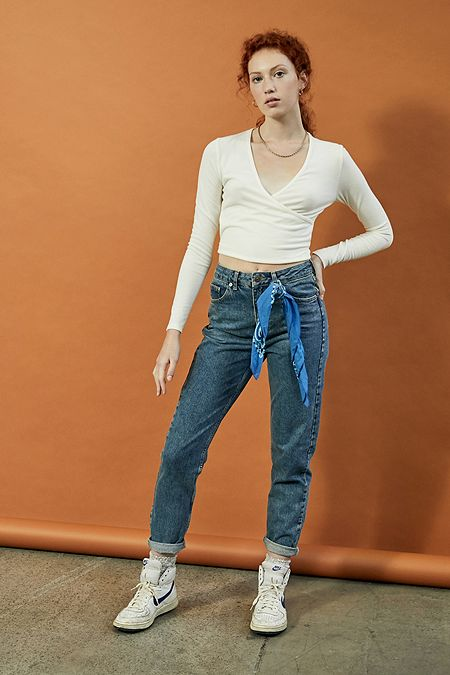 bb6fa76d BDG Mom Dark Vintage Wash Recycled Cotton Jeans