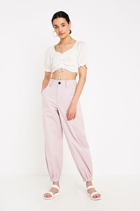 UO Jordyn Lilac Jogger Trousers 525f99c718b