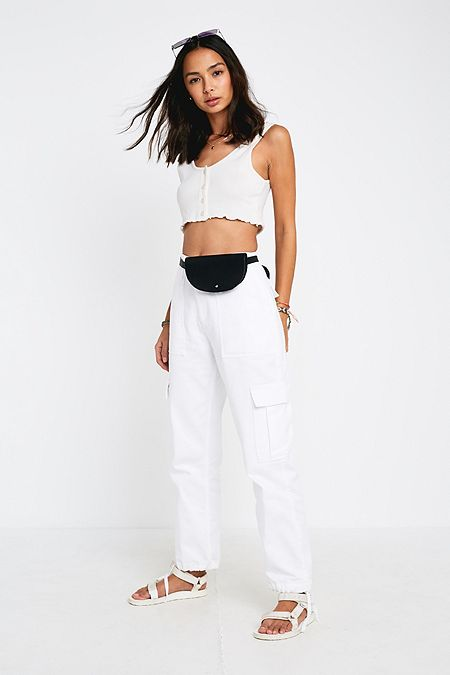 a9773bca82804d BDG Authentic White Cargo Trousers