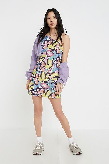 09894bae7cd UO Pablo Floral One-Shoulder Mini Dress
