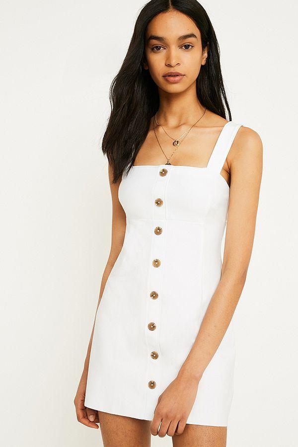b27b6d51416 UO Sandy Slip Button-Through Dress | Urban Outfitters UK