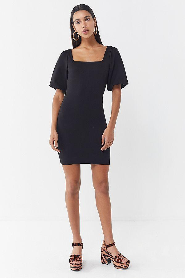 939d41bb9d UO Holly Puff Sleeve Bodycon Dress