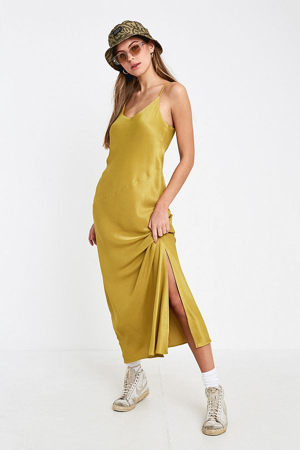 8e003841a03a UO Dalston Marigold Slip Dress | Urban Outfitters UK