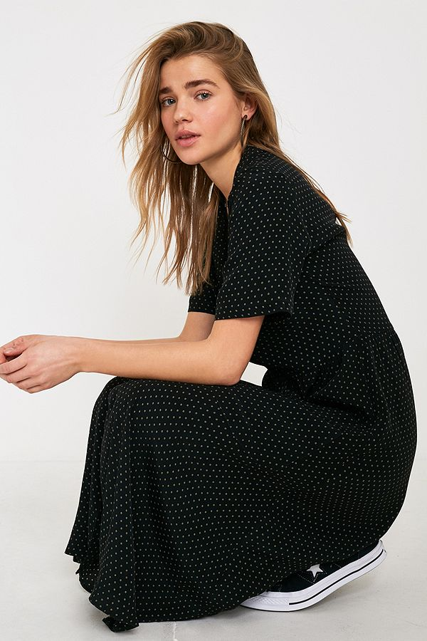 740bad07752c UO Pindot Midi Shirt Dress | Urban Outfitters UK