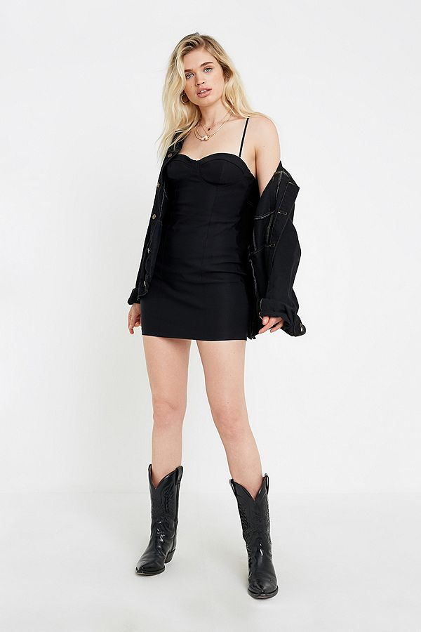 Uo Angelina Structured Bengaline Mini Dress by Urban Outfitters