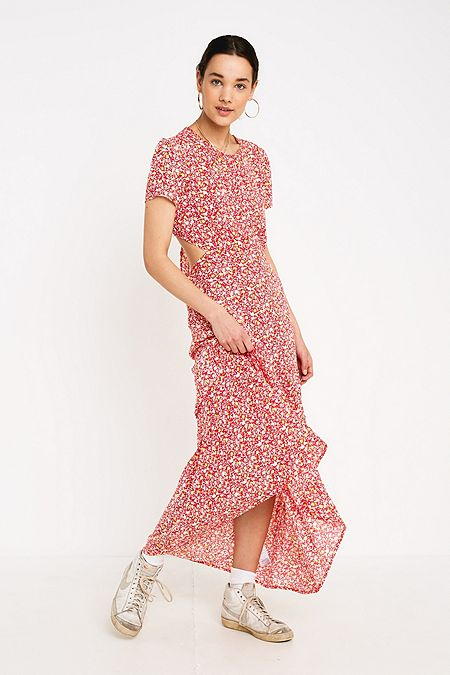 d863bab6934 UO Marfa Red Floral Maxi Dress