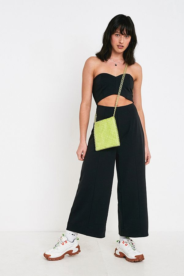 32dee6fa2e3c Slide View  1  UO Marley Black Strapless Cut-Out Jumpsuit