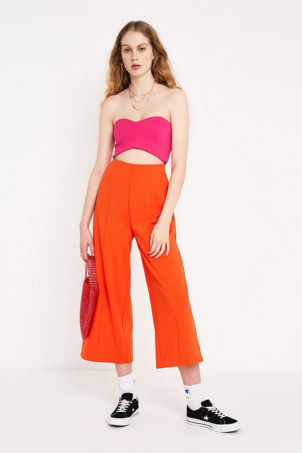 053c97ec4244 Slide View  1  UO Marley Magenta Strapless Cut-Out Jumpsuit