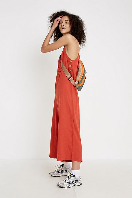 6472c836eb UO Marta Button-Side Jumpsuit