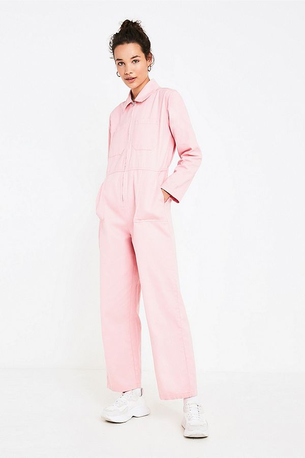 f6d1cb99ef0 Slide View  5  UO Rosie Pink Utility Jumpsuit