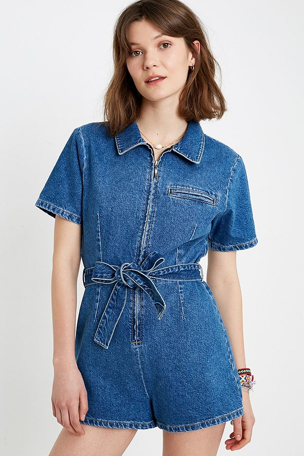 diversified in packaging exceptional range of styles best loved UO Hey Sunshine Denim Playsuit