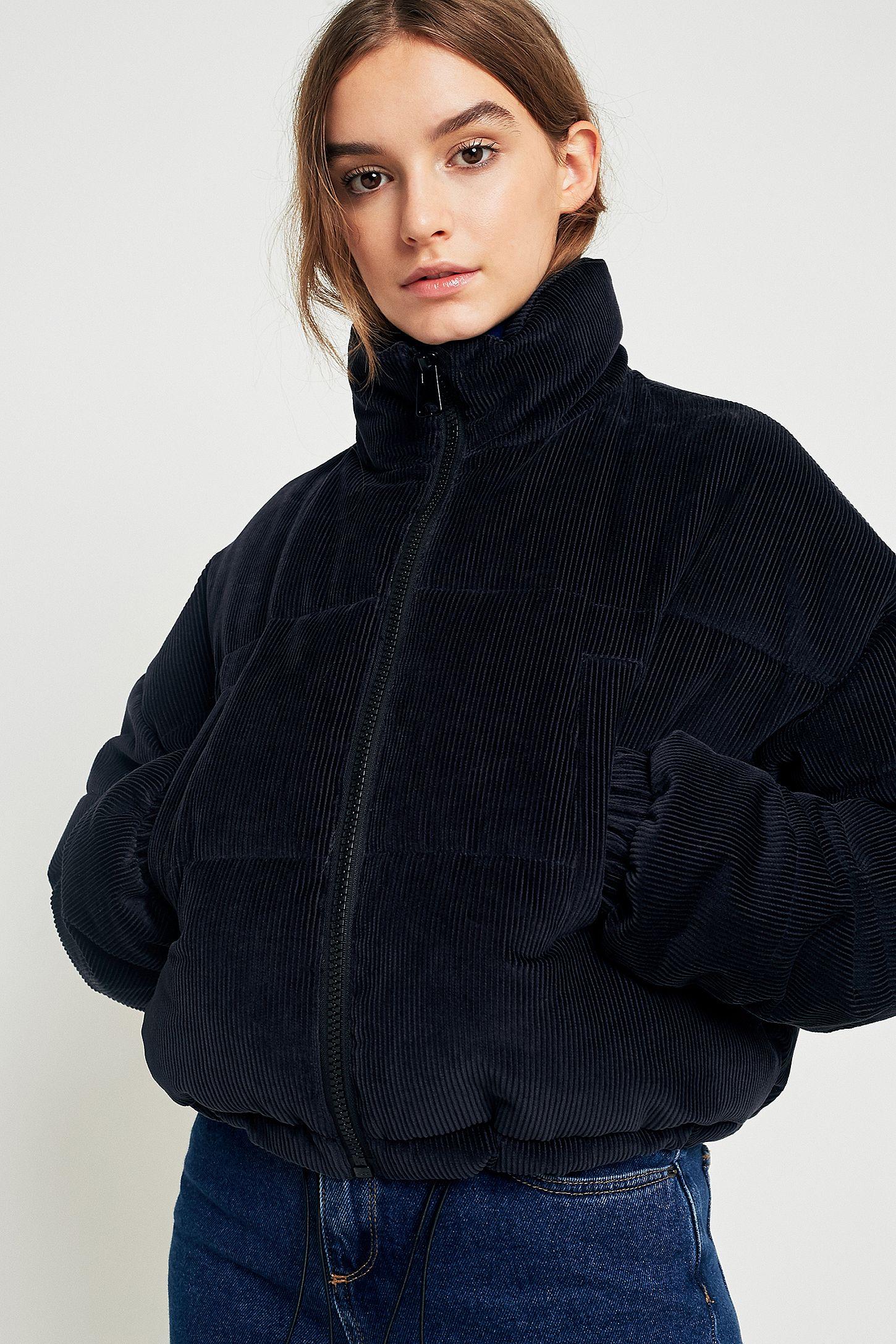 13f2af2bb Light Before Dark Indigo Corduroy Cropped Puffer Jacket