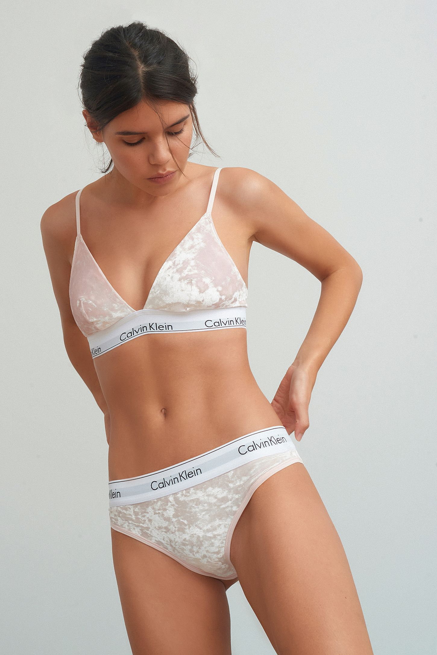 67c76b963 calvin klein crushed velvet underwear set