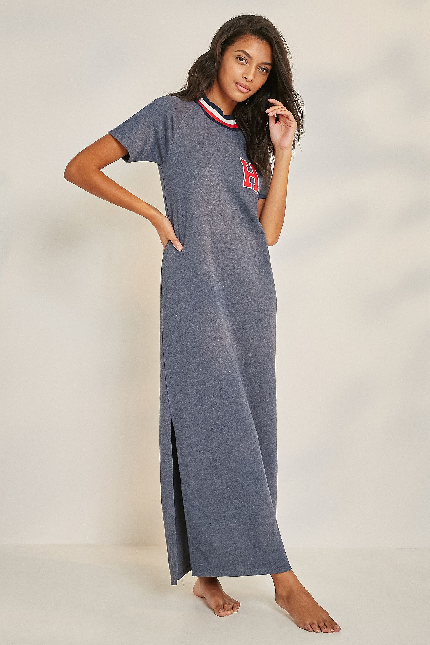 1cc0239c2d8 Tommy Hilfiger Maxi T-Shirt Dress | Urban Outfitters UK